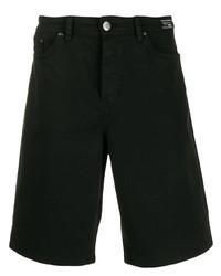 Pantalones cortos vaqueros negros de VERSACE JEANS COUTURE