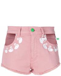 Pantalones Cortos Vaqueros Rosados de Flamingos