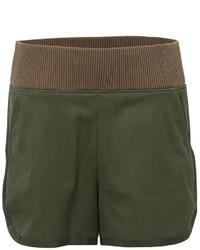Pantalones cortos verde oscuro de Sacai
