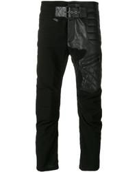 Pantalones de cuero negros de Haider Ackermann
