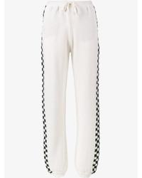 Pantalones de Lana de Tartán Blancos de Stella McCartney