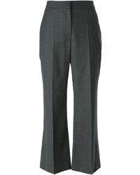 Pantalones de Lana Gris Oscuro de Stella McCartney