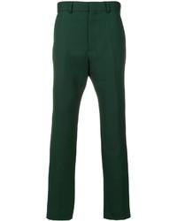 Pantalones de lana verde oscuro de Haider Ackermann