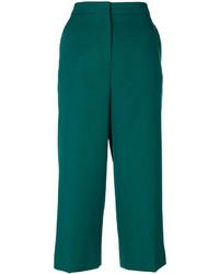 Pantalones de lana verdes de Rochas