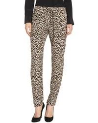 Pantalones de pijama de leopardo marrón claro