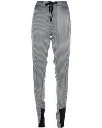 Pantalones de Pijama de Rayas Verticales Blancos y Negros de Ann Demeulemeester