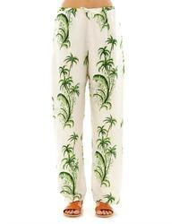 Pantalones de pijama estampados blancos