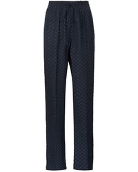 Pantalones de seda azul marino de Chloé