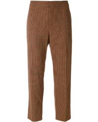Pantalones de tartán en tabaco de Chloé