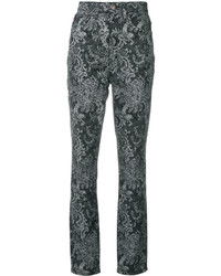 Pantalones estampados negros de Marc Jacobs