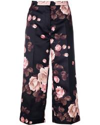 Pantalones estampados negros de Rochas