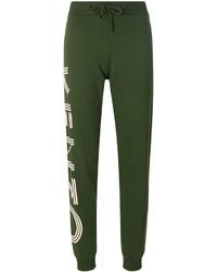 Pantalones estampados verde oscuro de Kenzo