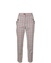 Pantalones pitillo a cuadros en multicolor de Veronica Beard