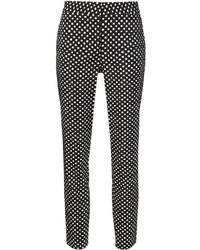 Pantalones pitillo a lunares en negro y blanco de Diane von Furstenberg