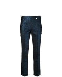 Pantalones pitillo azul marino de Versace Collection