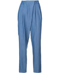Pantalones pitillo azules de Zac Posen