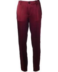 Pantalones pitillo burdeos original 4260997