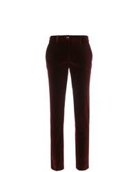 Pantalones pitillo burdeos de Etro