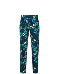 Pantalones pitillo con print de flores azules de P.A.R.O.S.H.