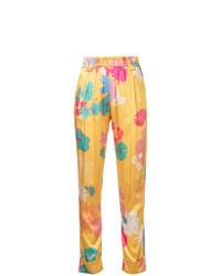 Pantalones pitillo con print de flores en multicolor de Stine Goya
