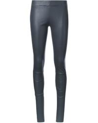 Pantalones pitillo de cuero grises de Sylvie Schimmel