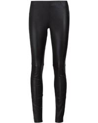 Pantalones pitillo de cuero negros de Anine Bing