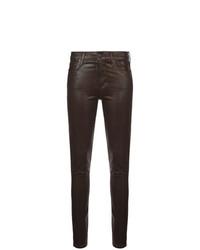 Pantalones pitillo de cuero negros de Citizens of Humanity
