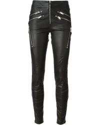 Pantalones pitillo de cuero negros de Diesel