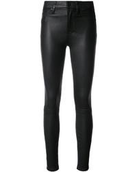 Pantalones pitillo de cuero negros de Hudson
