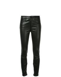 Pantalones pitillo de cuero negros de Nobody Denim