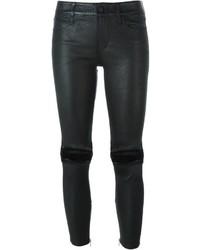 Pantalones pitillo de cuero negros de RtA