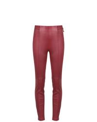Pantalones pitillo de cuero rojos de Tufi Duek