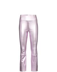 Pantalones pitillo de cuero rosados de Sprwmn