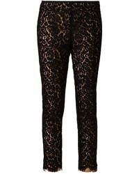 Pantalones pitillo de encaje negros de Michael Kors
