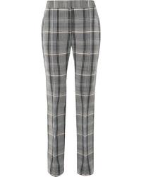 Pantalones pitillo de lana a cuadros grises