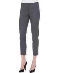 Pantalones pitillo de lana en gris oscuro