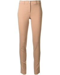 Pantalones pitillo de lana marrón claro de Michael Kors