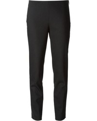 Pantalones pitillo de lana negros de Jil Sander