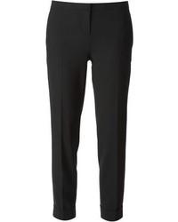 Pantalones pitillo de lana negros de Theory
