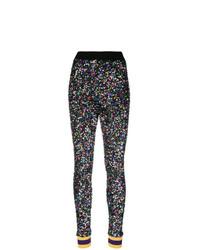 Pantalones pitillo de lentejuelas negros de Ultràchic