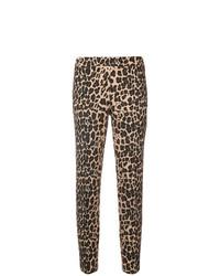 Pantalones pitillo de leopardo marrónes de P.A.R.O.S.H.