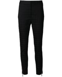 Pantalones pitillo de pata de gallo negros