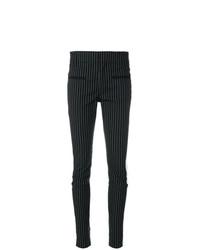 Pantalones pitillo de rayas verticales negros de Haider Ackermann
