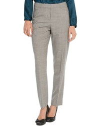 Pantalones pitillo de tartán grises