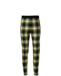 Pantalones pitillo de tartán negros de Ermanno Scervino