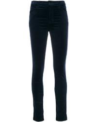 Pantalones pitillo de terciopelo azul marino de J Brand