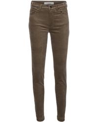 Pantalones pitillo de terciopelo marrónes de D-Exterior