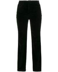 Pantalones pitillo de terciopelo negros de Dolce & Gabbana