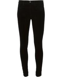Pantalones pitillo de terciopelo negros de J Brand