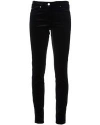 Pantalones pitillo de terciopelo negros de Roberto Cavalli